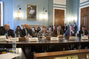 Cris Coffin, LFG Policy Director, testified at the U.S. House of Representative Committee on Agriculture hearing on direct marketing to ag-vocate for farmers. (photo courtesy of National Sustainable Agriculture Coalition)
