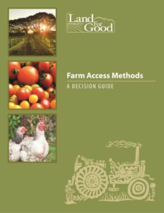 This is the cover of the Farm Access Methods Decision Guide