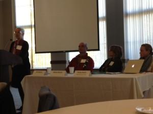 Kathy Ruhf, keynote speaker, addresses critical farmer transition.