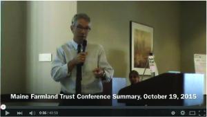 Watch Maine Farmland Trust Conference Summary by Craig Freshley