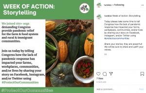 Photo of Rural Coalition's Week of Action Instagram Post