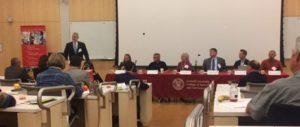 Panelists speak at USDA Fall Forum on Land Tenure & the Next Generation of Agriculture at Cornell University (photo courtesy of Julia Freegood, American Farmland Trust)
